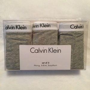 NWT Calvin Klein Set of 3 Panties
